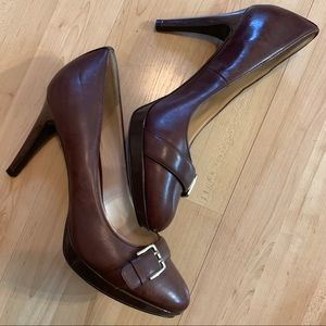 Cole Haan Nike Air size 10 brown leather pumps